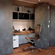 hidden home office. Workplace At Home Office Contemporary With Cupboard Desk Hidden Sliding Doors