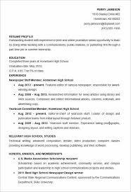 Examples Of High School Resumes Fascinating Examples Of Resumes For High School Students Fresh Resume Examples