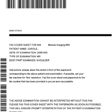 Example Of Bar Coded Fax Cover Sheet Produced By Dfa
