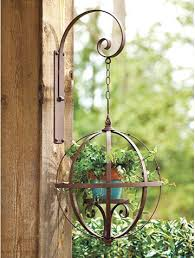 metal hanging planters outdoor orb hanging planter contemporary outdoor plant stand