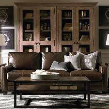 Brown leather living room furniture Home Cindy Crawford American Casual Ladson Great Room Sofa Bassett Furniture Leather Sofas Living Room Furniture Bassett Furniture