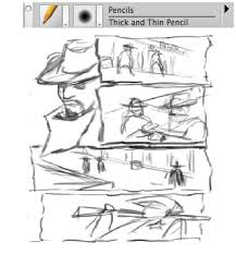 developing from thumbnail to rough sketch once you have a page design that you are happy with enlarge it to do this make a selection around the page