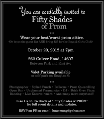best fifty shades of prom party images shades  fifty shades of prom invite hilarious