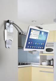 Kitchen Tablet Holder Kitchen Gray Metal Chrome Tablet Ipad E Book Kindle Stand Holder