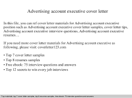 Sample Advertising Account Executive Cover Letter Advertising Account Executive Cover Letter