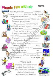 Learning resources for kids featuring free worksheets, coloring pages, activities, stories, and more! 3 Magic Pages Of Phonic Fun With Air Worksheet Dialogue And Key 28 Esl Worksheet By David Lisgo