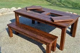 round wooden picnic table image of wood bench tables instructions garden