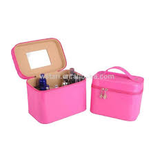 peive multifunctional shiny pvc cosmetic case make up beauty bag makeup box