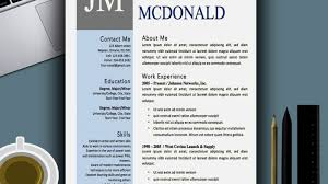 Charming Modern Resume Template Ms Word Pictures Inspiration