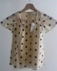 Details About Gap Toddler Girls Smocked Square Neck Dress Dot Print Black Cream 3 Years