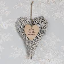 decorative wicker willow hanging heart wall hanging shabby chic decoration gift