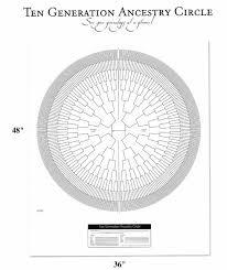 10 Generation Pedigree Chart Family Tree Chart Pedigree