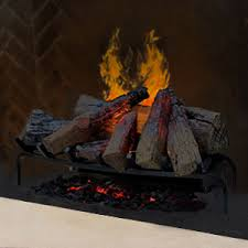 Electric Fireplace Logs Insert Wood Crackling Glowing Faux Fake Electric Fireplace Log Inserts