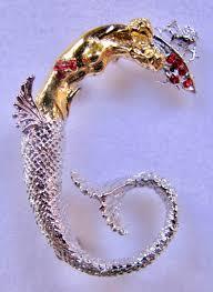 erte initial g signed gold sterling silver swarovski crystals art pendant brooch forgotten treasurez
