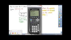 fastest and easiest way to solve a quadratic equation by graphing ti 84