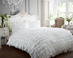 bedding set ideal striking white ruffle bedding memorable white ruffle bedding uk graceful white
