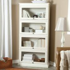 Glass Bookshelf Useful White Bookcase With Doors Home Design By John
