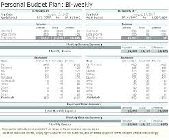 Bi Weekly Monthly Budget Spreadsheet Semi Monthly Personal Budget