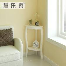 hui roca korean garden corner living room side table white glass corner table for living room