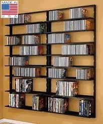 Wall mounted cd dvd storage
