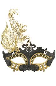 Glitter Mask Designs Rising Phoenix Venetian Mask Black Gold