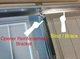 garage door reinforcement bracketGarage Door Strut Garage Door Bracket Clopay Garage Door Opener U