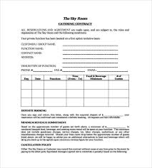 Catering Contract Samples Catering Contract Templates Word Excel Samples