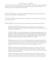 Writing A Business Proposal Template