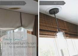 furniture easily change a recessed light to a decorative hanging
