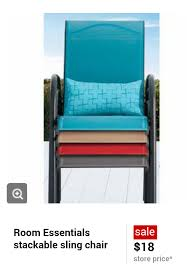 4 sling chairs 2 18ea and last 2 9ea total 54 and get back 10 giftcard 44 or 11ea also don t forget to use your target red card for an