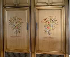 Kitchen Cabinets Melbourne Fl Faux Finishing Hand Painted Sub Zero Refrigerator Freezer Panels