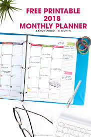 Levenger Templates 2018 Monthly Planner Free Printable Calendar 2 Page Spread