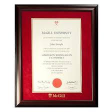 University – Diploma Frames Le Mcgill Store James