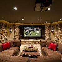 u shaped sectional with recliner. Fine With Basements  Movie Room Basement U Shaped Sectional Brown  For Shaped Sectional With Recliner P