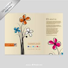Downloadable Brochure Templates Brochure Template With Flowers Psd File Free Download