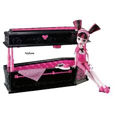Monster High DEAD TIRED Draculaura Doll JEWELRY BOX Coffin Bed
