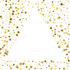 gold frame border design. Gold Frame Or Border Of Random Scatter Golden Stars On White Background.  Design Element For Design