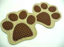 paw print mug rug choose colors rugs coasters dog co bear paw print rug