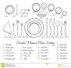 formal setting of a table. formal table setting of a r