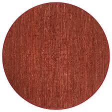 hand woven red oriole natural fiber jute rug 839 round 7 foot round natural fiber rug