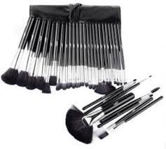 32pcs black color professional mac cosmetic makeup brushes set brush make up tool kit case