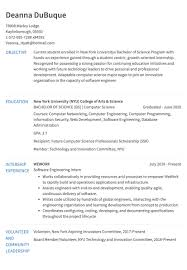 Internship Resume Example Resumecom
