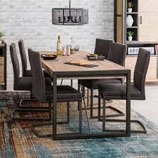 industrial dining furniture. Brilliant Dining Metro Industrial Large 6 Seater Dining Table With Chair Set  The  Furniture Market And A