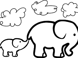 cute elephant coloring pages new free elephant coloring pages zentangle page animals printable for