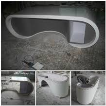 gray color home office high end acrylic office desk acrylic office desk