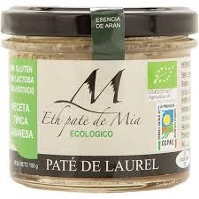 Comprar paté de laurel ecológico sin gluten y sin lactosa tarro ...