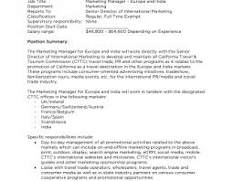 Travel Agency Marketing Manager Job Description | Travelyok.co