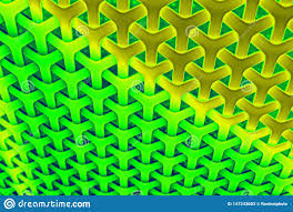 Interwoven Design Interwoven Rainbow Background Pattern In Yellow Green And