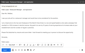 For example, if your name is mackenzie roberts and you are applying to a barber or beauty salon as a. How To Email A Resume Sample Email For A Job