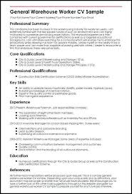 Warehouse Resume Examples Beauteous 6060 Resume Examples For Warehouse Jobs Lascazuelasphilly
